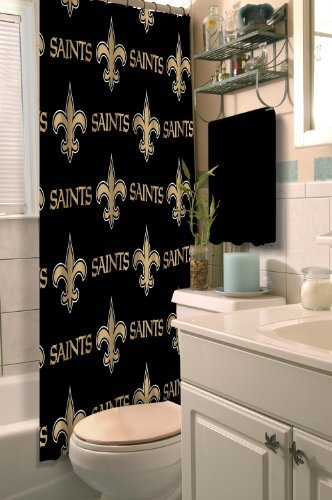 Northwest NOR-1NFL903000021RET New Orleans NFL 903 Saints Shower Curtain ()