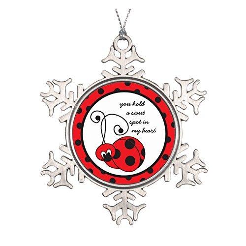Itty Bitty Snowflakes - LilithCroft99 Itty Bitty Ladybug Love Pewter Snowflake Christmas Ornaments,Christmas Tree Decorations Ornaments,Keepsake,Novelty