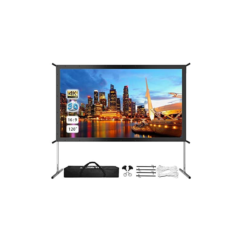 """Projector Screen with Stand, 120"""" 4K HD"""