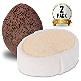 ITOWE Loofah Sponge and Pumice Stone Set - Natural Full Body Bath Scrubber for Exfoliating Shower, Loofah Pad Lava Stone Cleaner Kit for Dead Skin Cells, Cellulite and Toxins, Eliminate Fatigue