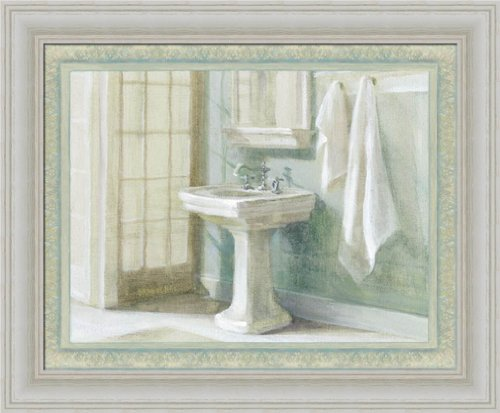 refreshing bath i by danhui nai traditional bathroom spa wall art print framed dcor