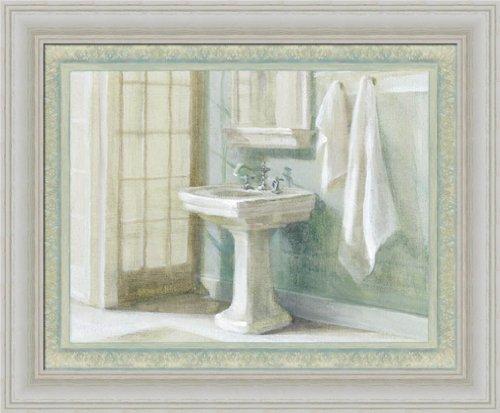 Refreshing Bath I By Danhui Nai Traditional Bathroom Spa Wall Art Print  Framed Décor