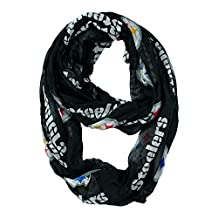 NFL Officially Licensed Pittsburgh Steelers Sheer Logo Infinity Scarf