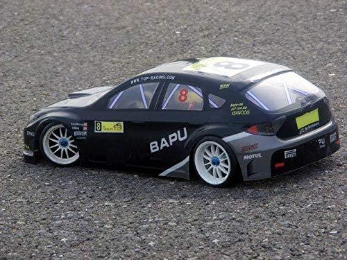 XuBa 1 10 Entfernungssteuerung, Auto 1 1 1 10, PVC, lackiert, 190 mm, 038 Schwarz, 2 Stück Wie abgebildet 2f3e6e