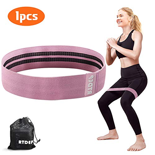 RTDEP Resistance Bands Exercise Bands Hip Band Booty Bands for Women&Men Fabric Bands for Working Out Set of 3 Booty…