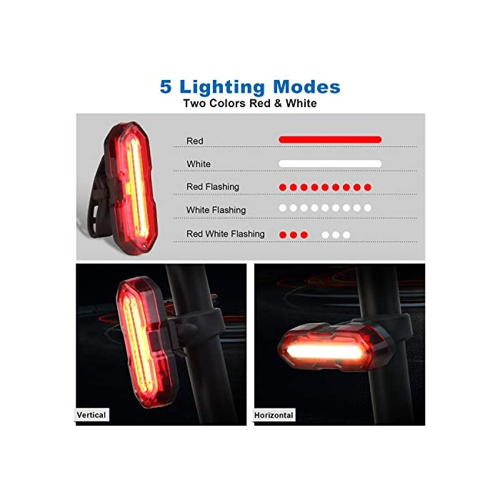 51vBbd6wK2L ? Súper Brillantes y Múltiples Modos - El luces para bicicleta te ofrece una conducción nocturna segura (luz delantera de 300 lúmenes y luz trasera de 100 lúmenes); La luz delantera tiene 3 modos (Alto - Bajo – Flash - Off); Luz trasera con 5 modos (Rojo - Rojo Intermitente - Blanco - Blanco Intermitente - Rojo / Blanco Intermitente - OFF) ? Impermeable IP65 y Libre Campana de Bici - La Luz bicicleta es adecuada para todo tipo de clima, ya sea niebla o lluvia, las luces de bicicleta le proporcionarán luces de visibilidad para mayor seguridad y protección en condiciones meteorológicas adversas. La luz de bicicleta viene con un cuerno libre - 120 dB hace que su viaje sea más seguro. ? Recargable USB y Carga Inteligente - la batería de litio del interior (1200 mAH) se puede cargar por completo rápidamente en 2 horas, simplemente con un cargador USB, una PC o cualquier puerto USB. El sistema de apagado automático y completamente cargado garantiza la seguridad y una mayor duración de la batería.