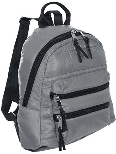 Sondra Roberts Ladies Handbags Quilted Parachute Backpack Grey by Sondra Roberts