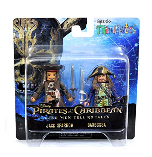 Pirates of the Caribbean Minimates Dead Men Tell No Tales Jack Sparrow & Barbossa 2-Pack -