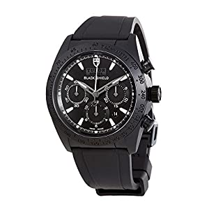 Tudor Blackshield Automatic Chronograph Black Dial Black Rubber Mens Watch 42000CN-BKRS