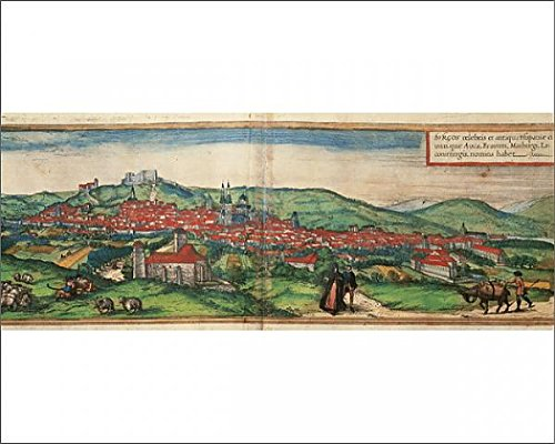 10x8 Print of Spain. Castile and Leon. Burgos. Map, 1576 at Civitates (14406726) by Mary Evans Prints Online