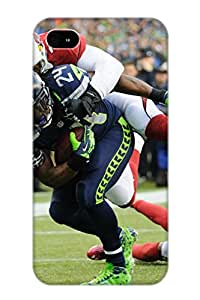 Fashion carcasa de TPU para iPhone 4/4S Seattle Seahawks NFL Arizona Cardinals de fútbol S Defender funda para amantes