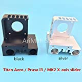 WillBest 1Pcs 3D Printer X-axis Slider Gantry Titan Aero Prusa I3 MK2 Printer extruder Full Metal CNC Technology(Color Random)