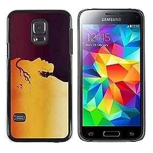 [Neutron-Star] Snap-on Series Teléfono Carcasa Funda Case Caso para Samsung Galaxy S5 Mini (Not S5), SM-G800 [Naturaleza Madre Tierra Eco Amor Mujer Flecha Bow]