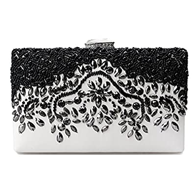 Evening Bag-Clutch Purse-Shiningwaner Vantage Wedding Party Bag With Embroidery Beads
