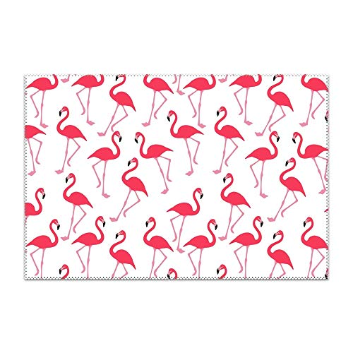 YLJH Flamingo Cute Pattern Placemat Heat-Resistant Washable Place Mats for Kitchen Dining Table Decoration ()