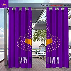 QianHe Outdoor CurtainHappy-Halloween-Card-Template-Abstract-Halloween-Pattern-for-Design-Card-Party-Invitation-Poster-Album-menu-t-Shirt-Bag-Print-etc-5.jpg Room Darkening Waterproof Curtain for in