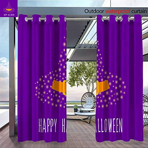QianHe Balcony Curtains Happy-Halloween-Card-Template-Abstract-Halloween-Pattern-for-Design-Card-Party-Invitation-Poster-Album-menu-t-Shirt-Bag-Print-etc-5.jpg Outdoor Patio Curtains Waterproof with ()