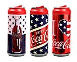 Cool Gear Coca-Cola American Summer Graphics, 16 Ounce Insulated Can Chiller Mug Set of 3, American Flag, American Heart and American Stars