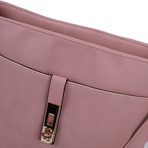 Lock Fashion Designer colours 7 Bag SALLY YOUNG Women Body Pink Cross qaBx5tIw