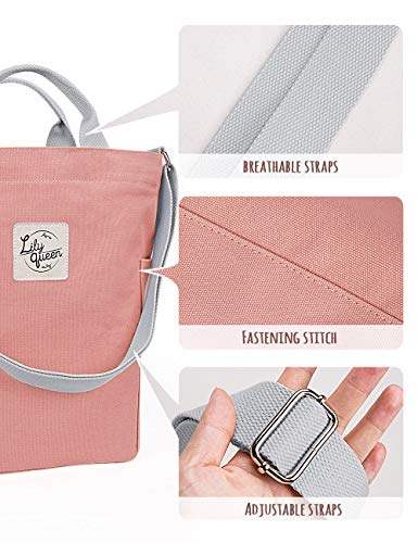Almond Tote Handbags Lily Casual Hobo Women Crossbody Pink Shoulder Canvas Queen Bag TvT6SWxRq