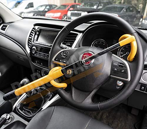 UKB4C Anti Theft Double Hook Security Steering Wheel Lock for Saab 9000 All Models: