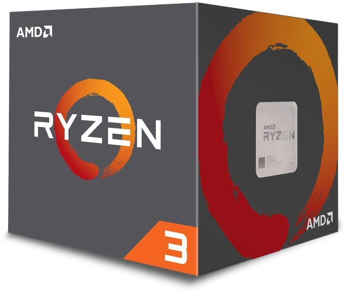 AMD Ryzen 3 1200 Desktop Processor with Wraith Stealth Cooler (YD1200BBAEBOX) by AMD