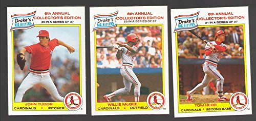 (1986 Drake's Big Hitters Super Pitchers - ST LOUIS CARDINALS Team Set)