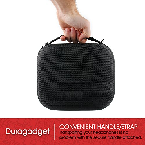 LARGE Matte Black Tough EVA Storage Carry Case for SteelSeries Siberia 800   840 Full-Size Wireless Headset - by DURAGADGET