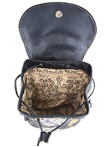the Dead Sugar Travel Carry Concealed Fashion Wallet Skull Daypack Biker of Set Backpack Purse Set Women Day Black Pn1rqtSI1