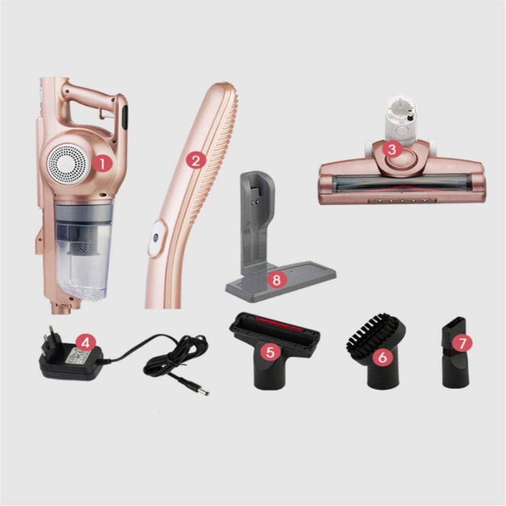 Aspirateur Balai Multifonction,Aspirateur sans fil, aspirateur sans fil rechargeable ¨¤ usage domestique-Or rose,aspirateur balai sans fil Or Rose
