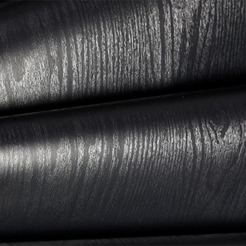 Doors Veneer Wood (LS Black Textured Wood Grain Contact Paper 24