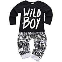 Baby Boys Clothes Set Wild Boy Long Sleeve T-Shirt Tops and Pants Outfits Winter Autumn