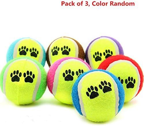 venmo mascota gato perro pelotas, pelotas de tenis para perro gato Masticar Catch manta juego divertido juguete Capacitación Pack de 3 color al azar: Amazon.es: Productos para mascotas