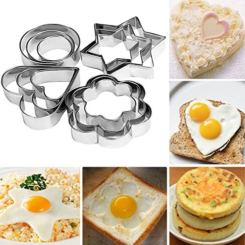 Bihood Fruit Cutter Cake Cookie Biscuit Egg Fondant Molds Cake Chocolate Cupcake Maker for Kids Cutter Babycakes Cupcake Maker for Girls Sugarcraft Cutter Made of Expensive 403 Stainless Steel 12 PCS (Chocolate Factory Maker compare prices)