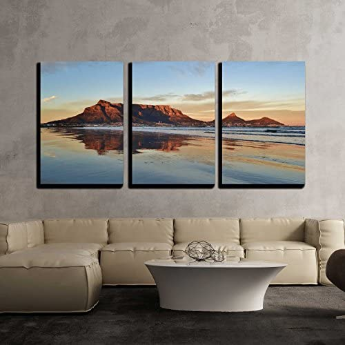 Landscape of Cape Town and Table Mountain at Sunrise x3 Panels