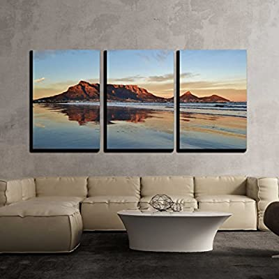 Charming Artistry, Original Creation, Landscape of Cape Town and Table Mountain at Sunrise x3 Panels