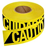 Empire Level 76-0600 Reinforced Construction Grade Caution Tape, 500 Feet by 3-Inch