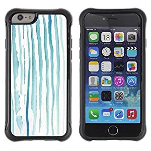 """All-Round Hybrid Rubber Case Hard Cover Protective Accessory Compatible with Apple iPhone 6PLUS ¡ê¡§5.5"""") - art minimal Teal Blue Sad"""