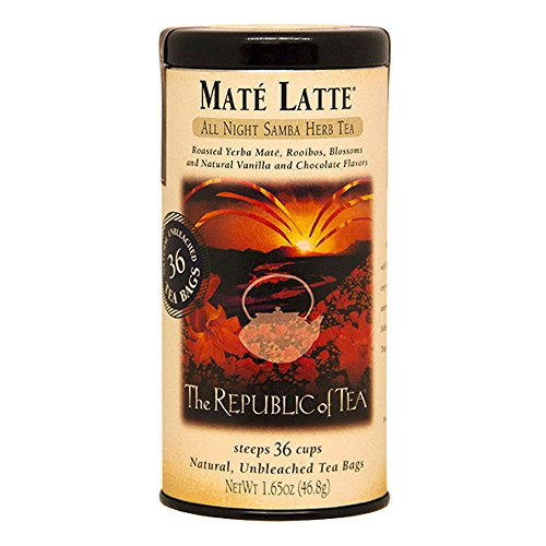 Republic Of Tea Almond Tea (The Republic Of Tea Mate Latte Herbal Tea, 36 Tea Bag Tin)