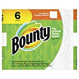Bounty Paper Towels, White, 6 Regular Rolls, 6 Count