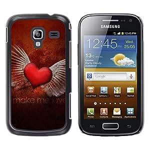 Caucho caso de Shell duro de la cubierta de accesorios de protección BY RAYDREAMMM - Samsung Galaxy Ace 2 I8160 Ace II X S7560M - Love Make My Love