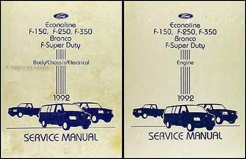 1992 ford truck and van repair shop manual econoline f150 f250 f350 rh amazon com Ford F-150 1980 Ford F-150