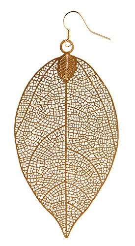 Large Leaf Earrings - 3.75