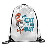 Briskaari The Cat In The Hat Drawstring Backpack Sack Bag Travel Bag