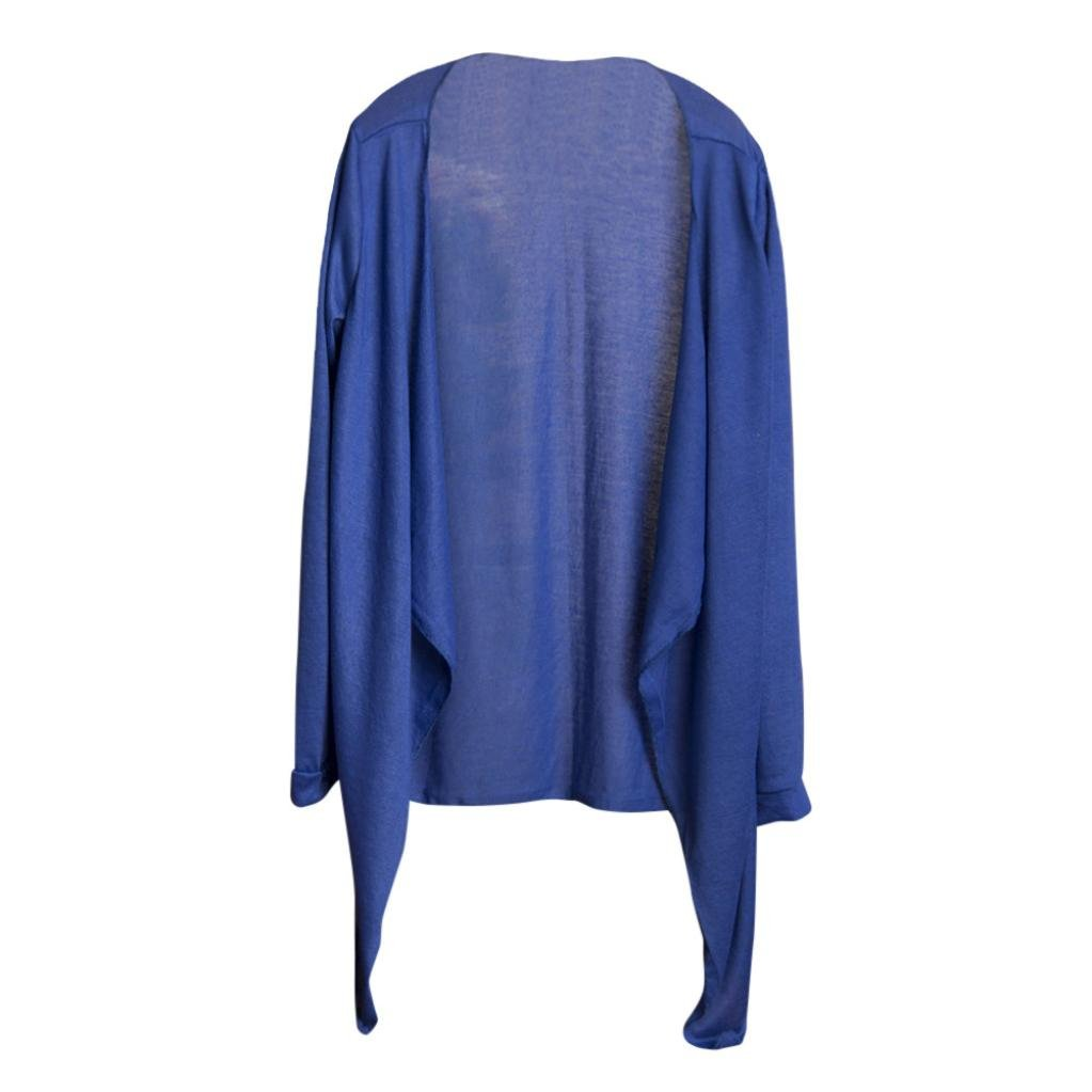 FAPIZI Womens Blouse Clearance Summer Womens Long Thin Cardigan T-Shirt Casual Modal Sun Protection Clothing Shawls (Blue)