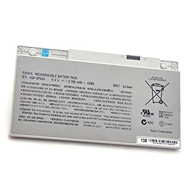 Fully Brand new VGP-BPS33 replacement battery For SONY VAIO SVT-14 SVT-15 T14 T15 T14118CC Vaio SVT14126CXS, Vaio SVT14127CH, Vaio SVT141290X, Vaio SVT141A11L Ultrabook by Fully