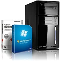shinobee Flüster-PC Quad-Core Office/Multimedia PC Computer mit 3 Jahren Garantie! inkl. Windows7 Professional - INTEL Quad Core 4x2.41 GHz, 8GB RAM, 500GB HDD, Intel HD Graphics, HDMI, VGA, DVD?RW, Office, USB 3.0 #4848
