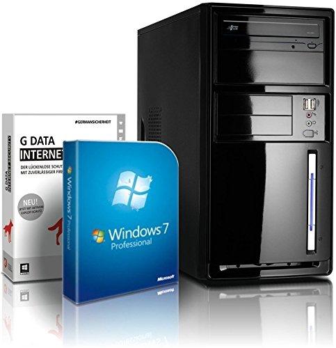 shinobee Flüster-PC Quad-Core Office/Multimedia PC Computer mit 3 Jahren Garantie! inkl. Windows7 Professional - INTEL Quad Core 4x2.41 GHz, 8GB RAM, 500GB HDD, Intel HD Graphics, HDMI, VGA, DVD±RW, Office, USB 3.0 #4848