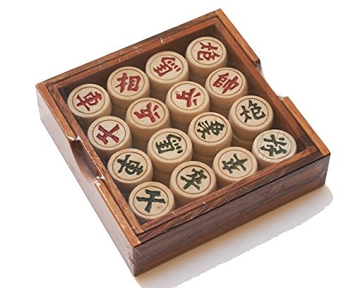 CMStar Portable Traditional Wooden Chinese Chess Game Set