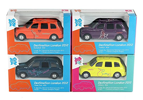 Set of 4 - Corgi London 2012 Olympics Destination London Taxi Diecast Collectable Models #33, #34, #35 & #36